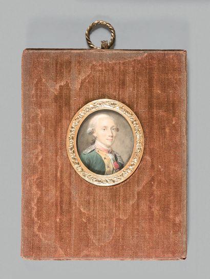 Antoine VESTIER (Avallon, 1740 - Paris, 1824) Portrait du baron André Cadier de Veauce...