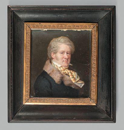 Gabriel-Aristide PASSOT (Nevers, 1797 - Paris, 1875). Portrait de Joseph Étienne,...