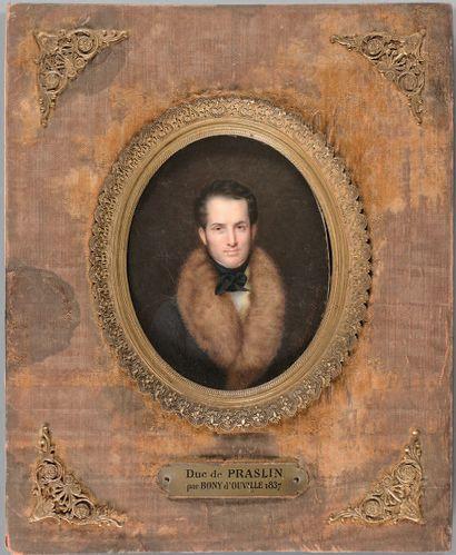 Charles-Antoine-Claude BERNY d'OUVILLE (Clermont-Ferrand, 1771 - Paris, 1856) Portrait...