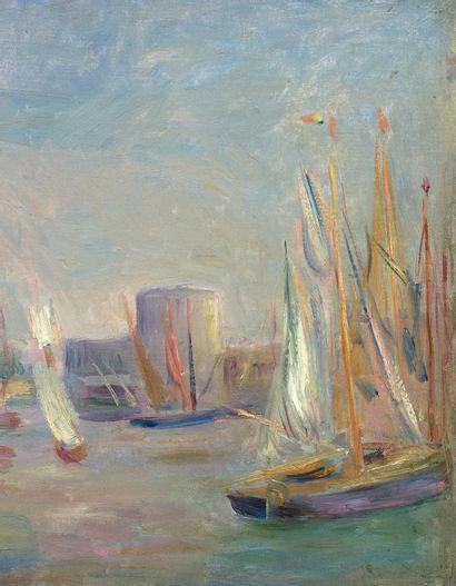 Pierre Auguste RENOIR (1841-1919) La Rochelle, vers 1896 Huile sur toile, porte une...