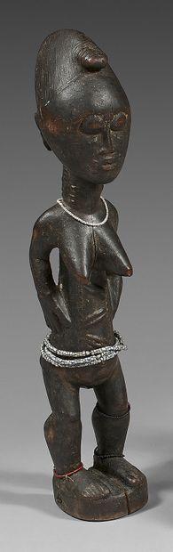 Statuette féminine Baoulé (Côte-d'Ivoire)....