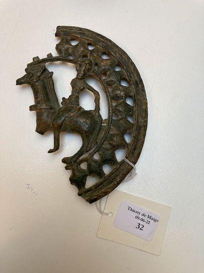 Fragment de boucle de ceinture circulaire...