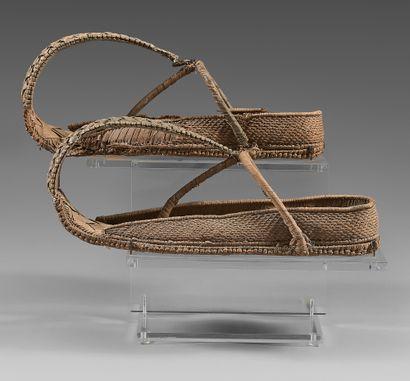 Rare paire de chaussures de notable à l'extrémité...