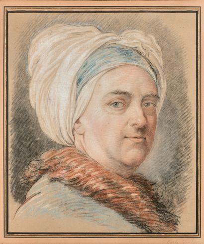 Charles-André dit Carle van LOO (Nice 1705 - Paris 1765) Autoportrait présumé au...