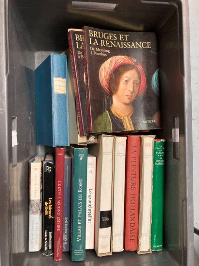 Caisse de livres Beaux Arts comprenant Les...