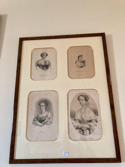 Neuf gravures, Eugènie de Montijo, Impératrice;...