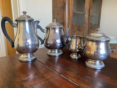Lot de métal argenté : service thé et café...
