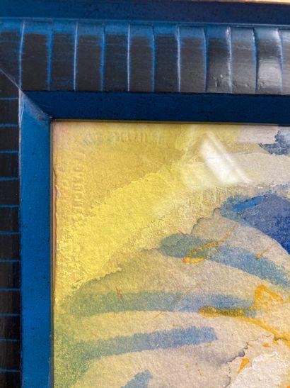 Claude Gérard (Né en 1932)  Energie  Peinture acrylique sur papier  55 x 76 cm  Lot...