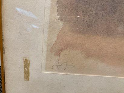 Alexandre HOLLAN (né en 1933)  Nature morte signée en bas à gauche  Tâches et rousseurs...