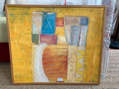J. Faugeroux (Né en 1950)  Sans titre  Peinture acrylique sur toile, signée en bas...