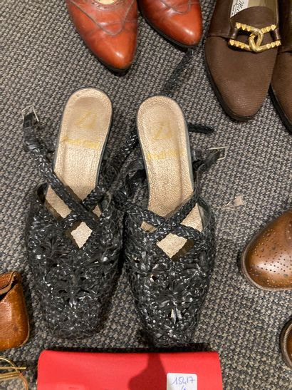 Lot de 9 paires de chaussures (Céline, Gontard,Clergerie, Ceroni, Meccori) on y...