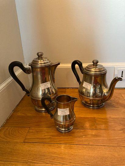 Service à thé et café, 3 pièces, en argent,...