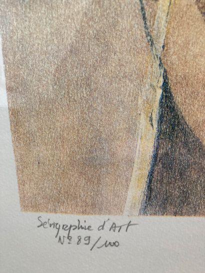 J. Faugeroux (Né en 1950)  Sans titre  Sérigraphie, signée en bas à droite et numérotée...