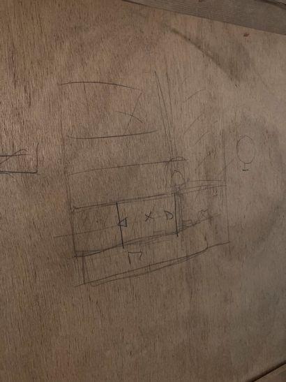 Guy BRUNET  Trois pastels sur papier encadrés sur le même montage  dimensions totales...