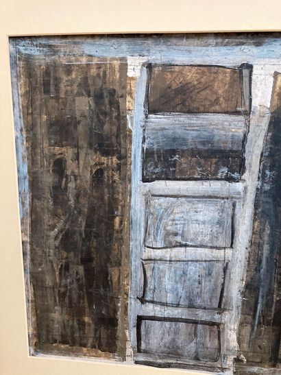 J. Faugeroux (Né en 1950)  Sans titre  Peinture acrylique sur carton signée en bas...