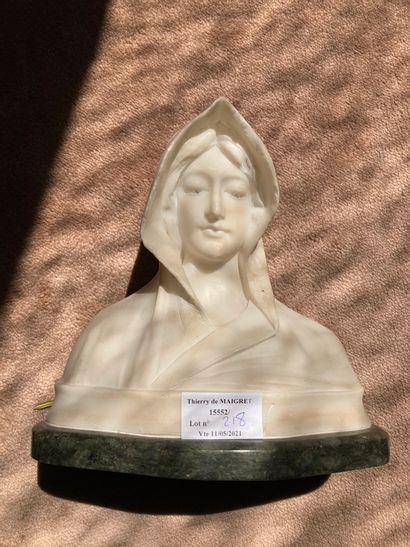 Cipriani, vers 1900  Sainte en buste (éclats)...