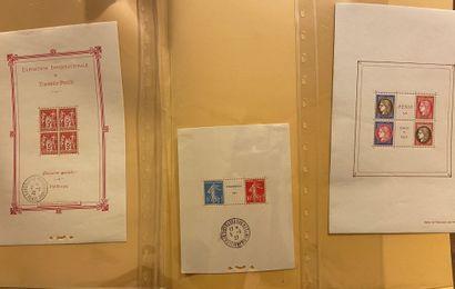 FRANCE BLOCS FEUILLETS: N°1, 2 et 3. TB