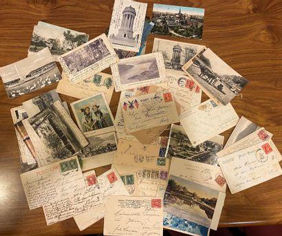 1 lot de cartes postales diverses