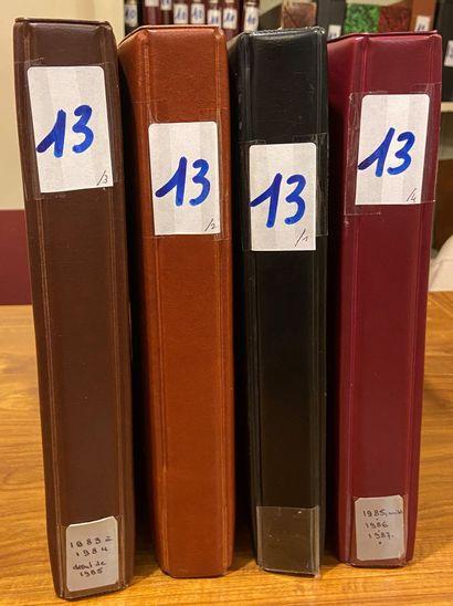 FRANCE moderne: 4 classeurs contenant des...