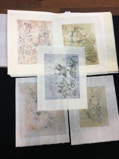 TZARA (Tristan). Vigies. S. l. [Paris[, Alexandre Loewy, n. d. [1962]. In-4° in sheets,...