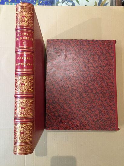MUSSET (Alfred de). - Works (9 vols.). -- Posthumous works. Paris, Alphonse Lemerre,...