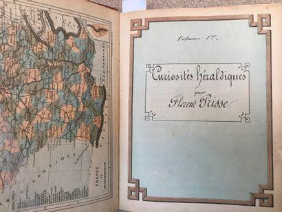 """[HERALDRY / MANUSCRIPT]. """"Heraldic Curiosities by Florent PRISSE"""". Manuscript of..."""