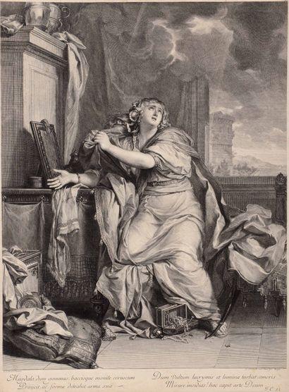 Gérard EDELINCK (1640-1707)  Saint Charles...