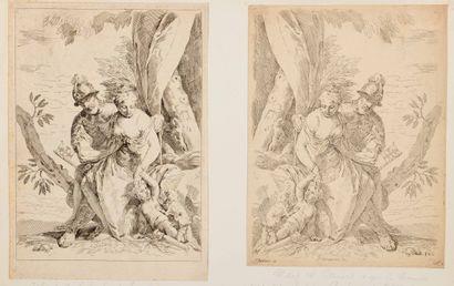 Simone CANTARINI (1612 - 1648)  Mars,Venus...