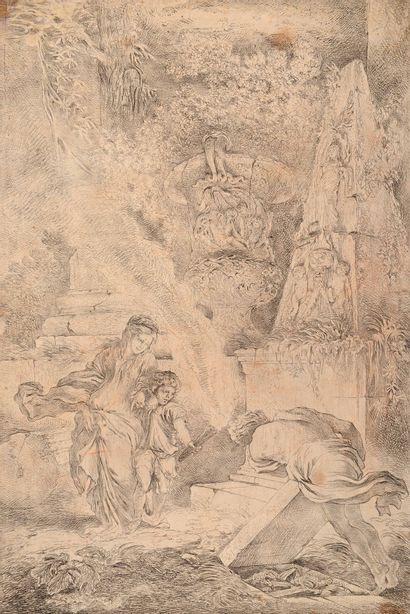 G.B. CASTIGLIONE (1615 – 1673)  Le Tombeau...