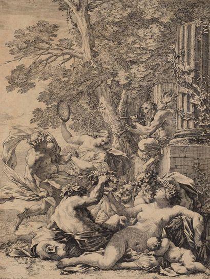 Michel DORIGNY (1617 - 1665)  Bacchanale...