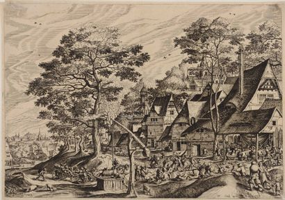 Jerôme COCK (1518 - 1570) éditeur  Paysage...