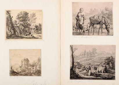 Karel DUJARDIN (1626-1678)  Animaux, paysages...