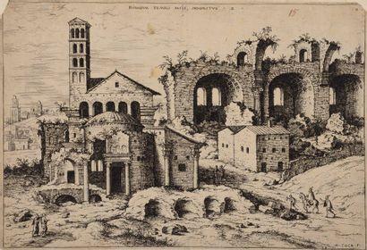 Jerôme COCK (1518 - 1570) éditeur  Ruines...