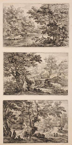 Antoine-François BAUDUINS (1640 – 1700)  Paysages...