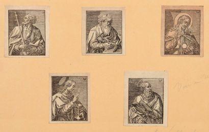 BOIS et DIVERS  Illustrations, saints, guirlandes...