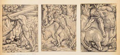 ANONYME  Travaux d' Hercule, 3 planches....