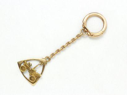 Porte-clefs en or 750 millièmes, décoré d'une...