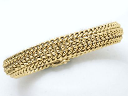 Bracelet en or 750 millièmes, maille gourmette...