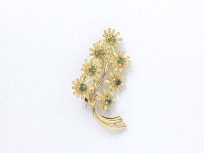 Broche en or 750 millièmes, à décor de branche...