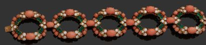 FRED Élégant bracelet articulé en or 750...