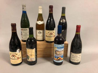 7 bouteilles VINS DIVERS (Châteauneuf du...
