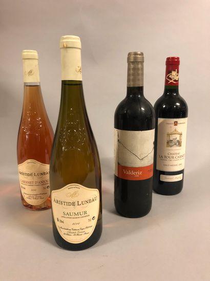 4 bouteilles VIN DIVERS (Ch. La Tour Carnet...