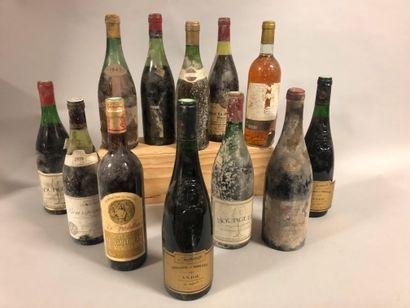 12 bouteilles VIN DIVERS (et, ea, 2 SE, vendu...