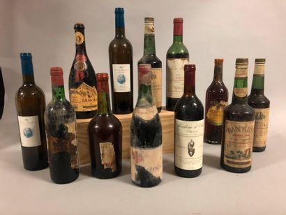 12 bouteilles VIN DIVERS (et, ea, vendu en...