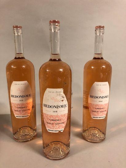 3 magnums CORBIERES HEDONISM(E), G. Bertrand...