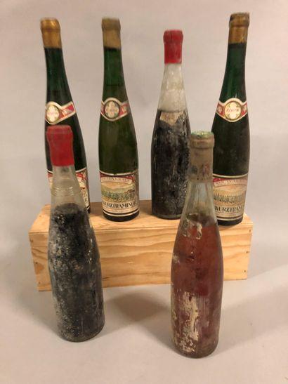 6 bouteilles ALSACE DIVERS (3 Gewurztraminer...