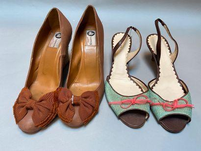 LANVIN, MARC JACOBS  Lot de deux paires...