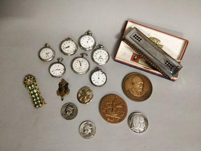Lot : 7 montres à gousset EN L'ETAT, 1 montre...