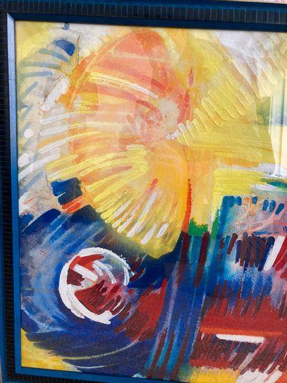 Claude Gérard  Energie  Peinture acrylique...