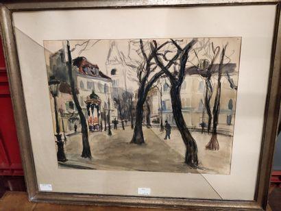 André Malterre  Place dans Paris  Technique...